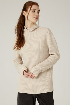 Filosofia Kristen mockneck ribbed sweater | pipe and row boutique