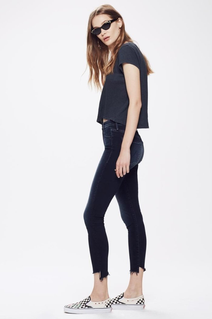 Mother denim Stunner zip two step ankly fray in last call Pipe and Row