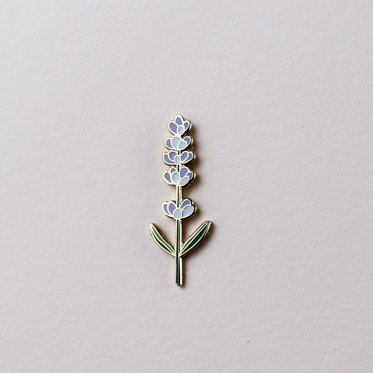 lavender plant enamel pin hemleva | pipe and row