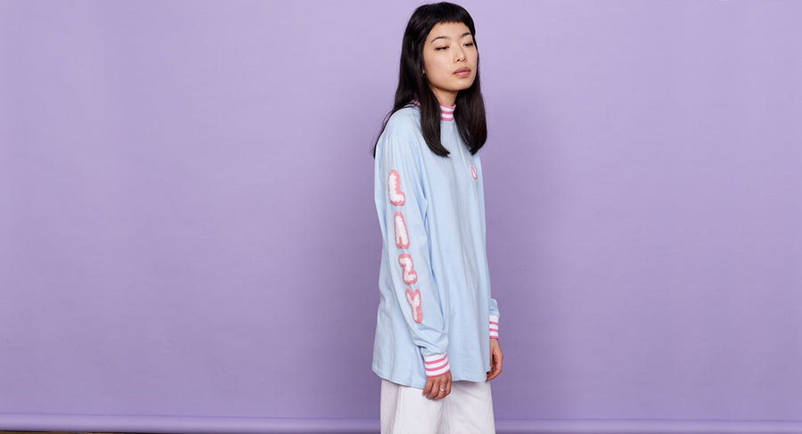 LAZY LETTERS LONG SLEEVE TEE