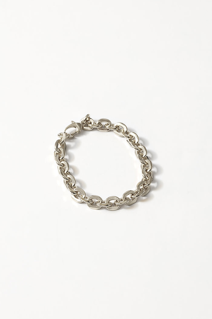 Wolf Circus Lee bracelet silver large link jewelry | pipe and row