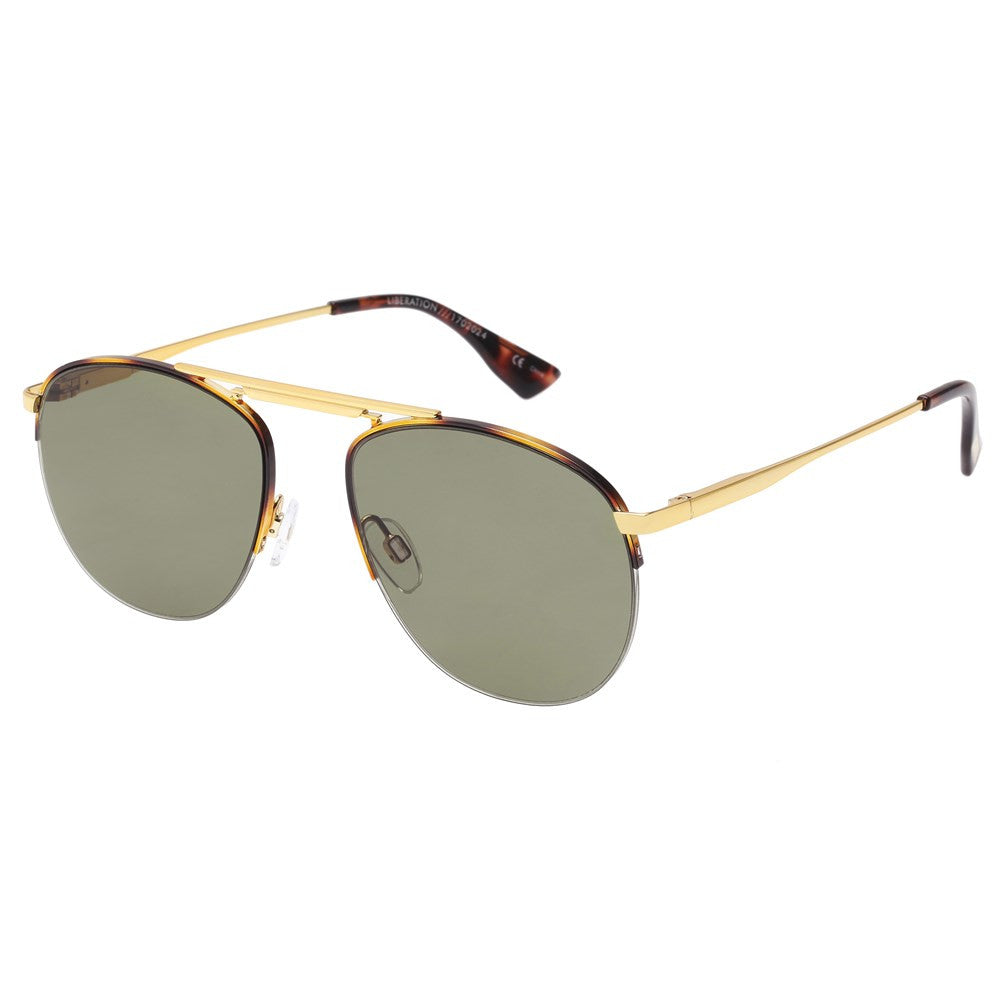 ws liberation le specs gold tort retro aviator sunglasses | pipe and row seattle