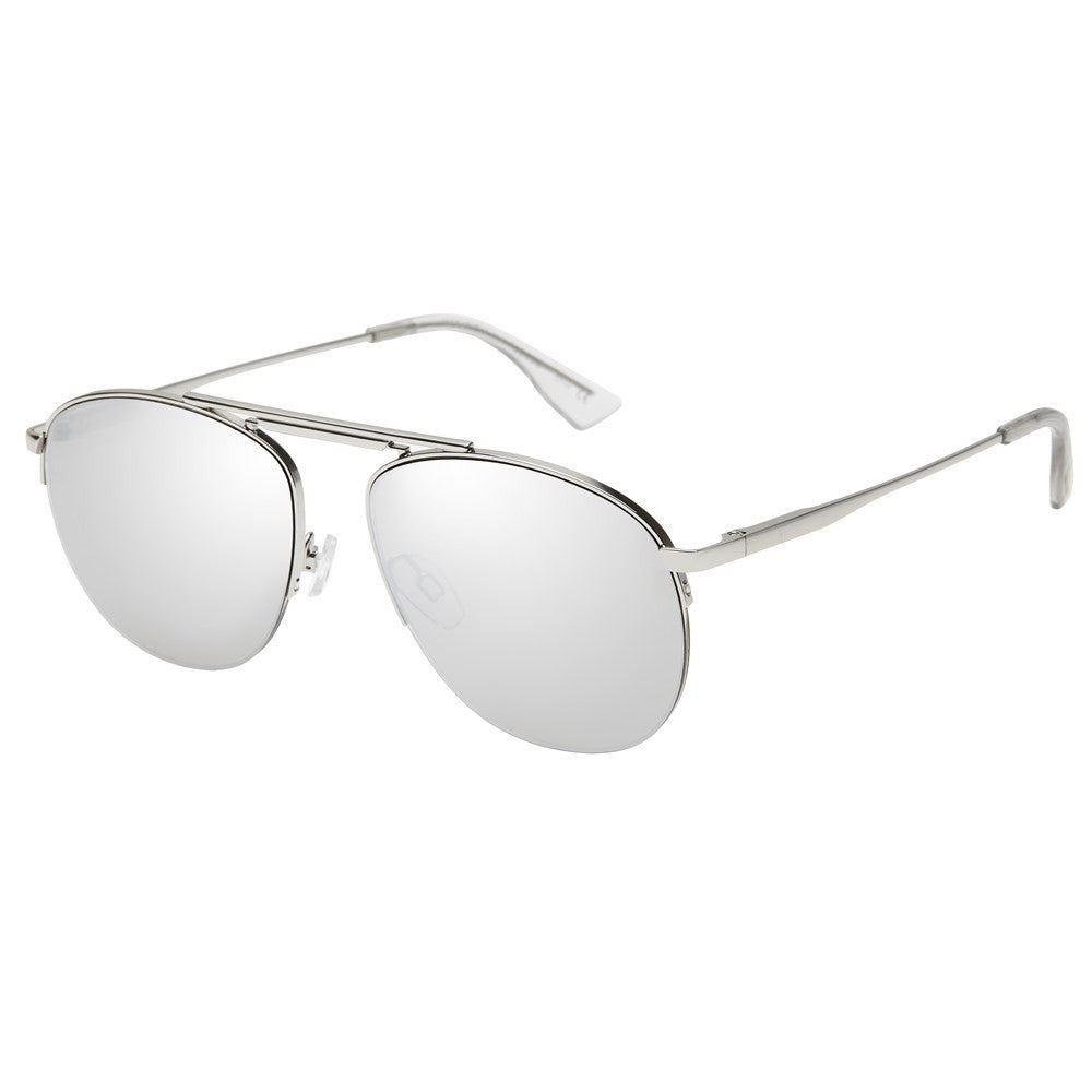ws liberation le specs silver retro aviator sunglasses | pipe and row seattle