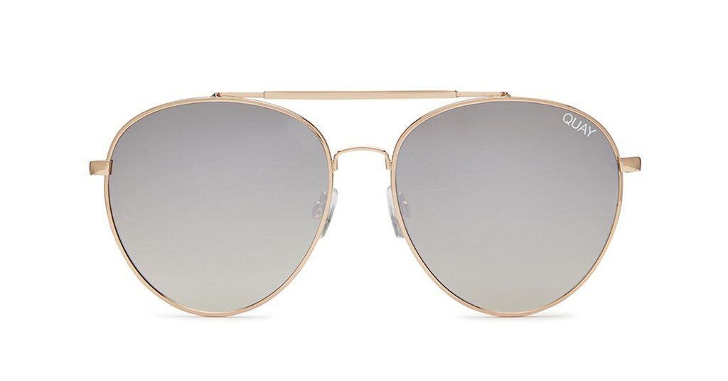 QUAY LICKETY SPLIT AVIATOR SUNGLASSES GOLD | PIPE AND ROW SEATTLE