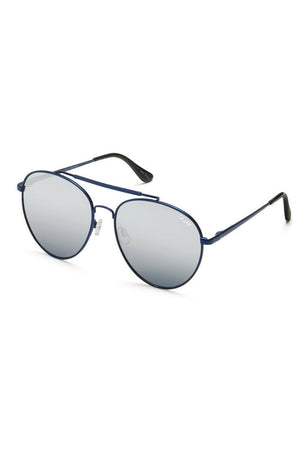 QUAY LICKETY SPLIT AVIATOR SUNGLASSES BLUE | PIPE AND ROW SEATTLE