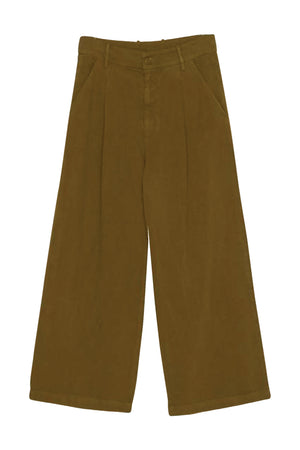 LACAUSA LOLA LINEN TROUSER scout olive green | PIPE AND ROW