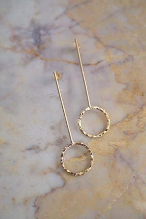 Long Pendulum Earrings 14k Gold fill | Pipe and Row