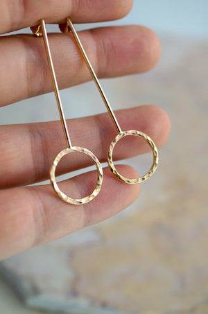 Long Pendulum Earrings Gold by Hannah Naomi | Pipe and Row