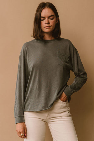 Lacausa Longsleeve Crewneck tee super-soft oversized fit | pipe and row
