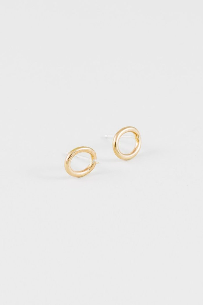 Simple loop earrings gold wolf circus | pipe and row seattle