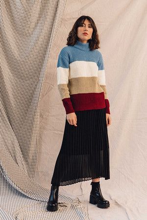 Rue Stiic Maise color block knit sweater | pipe and row Seattle Boutique