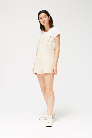 Matisse linen biscuit short Overalls by lacausa | pipe and row