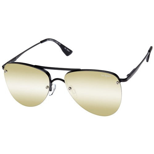 ws matte black gold the prince le specs aviator sunglasses | pipe and row