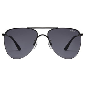 matte black smoke the prince le specs aviator mirrored sunglasses | pipe and row