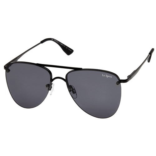 matte black smoke the prince le specs aviator sunglasses | pipe and row