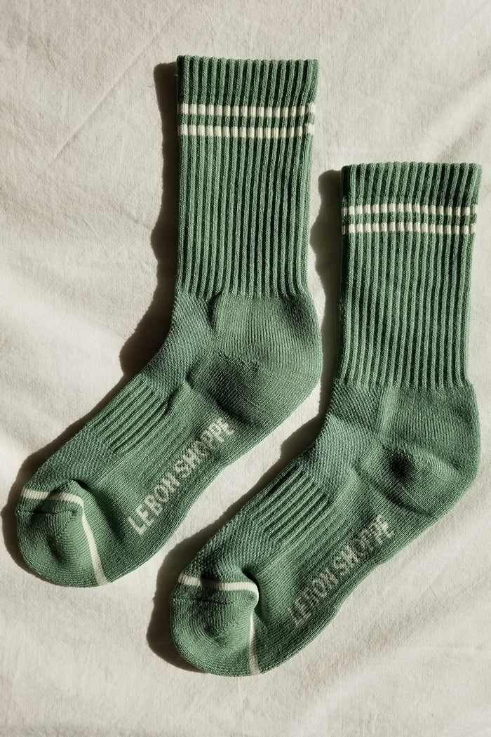Le Bon Shoppe Boyfriend socks in meadow green | Pipe and Row boutique