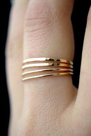 smooth stacking 14k gold fill hannah naomi | pipe and row