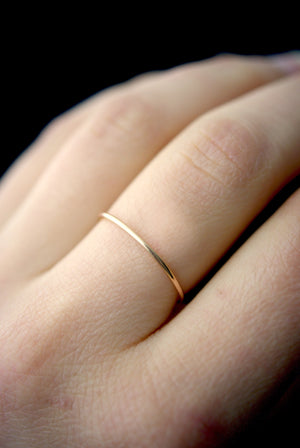 stacking ring gold smooth | pipe and row