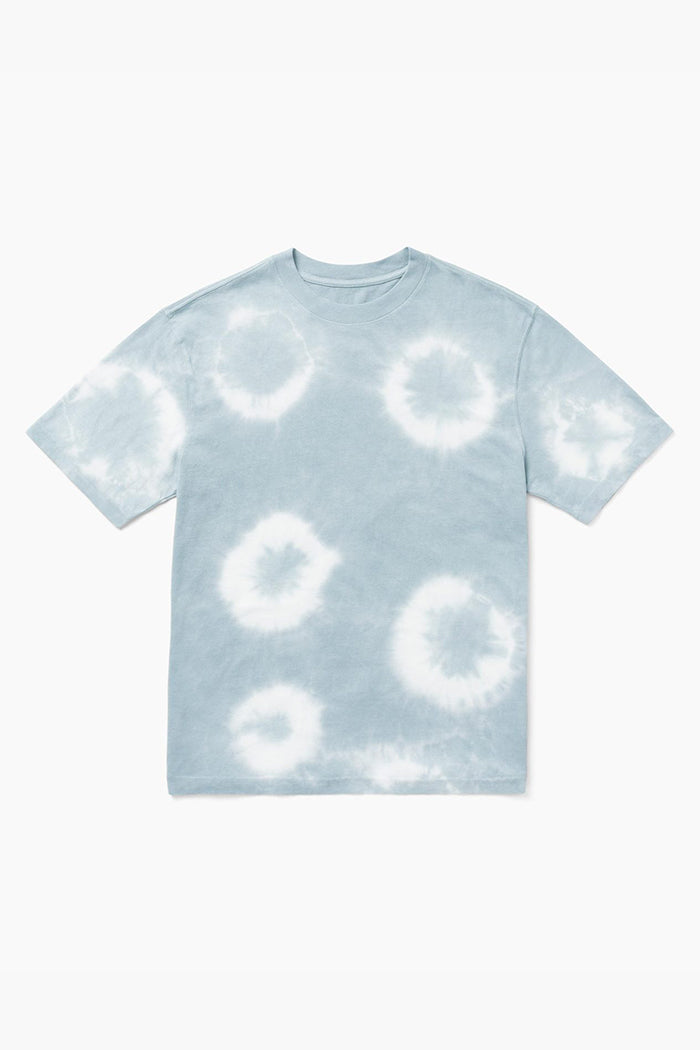 Richer Poorer unisex short sleeve cotton crew tee tie dye blue mirage wash | PIPE AND ROW