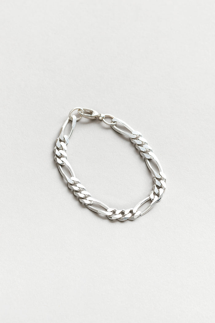 Wolf Circus Michelle thick sterling silver figaro chain | pipe and row