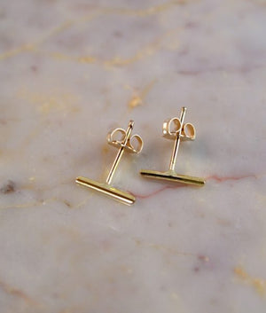 MINI BAR EARRINGS GOLD