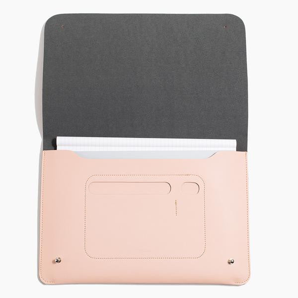 Minimalist folio ipad case vegan blush pink Poketo | pipe and row