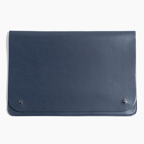 Poketo minimalist portfolio laptop case large navy blue | pipe and row