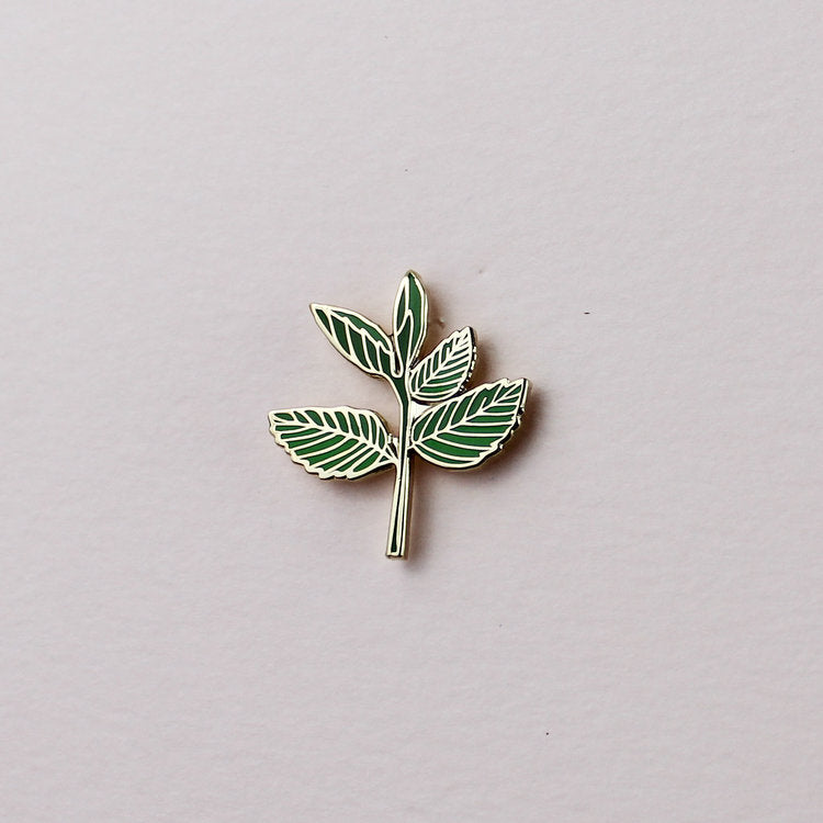 mint plant enamel pin hemleva | pipe and row