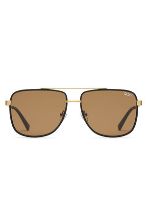 masculine rectangular sunglasses bronze black brown modern times quay | pipe and row