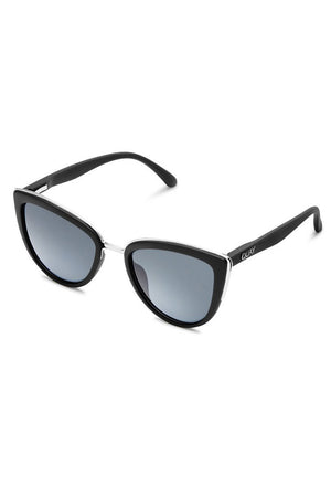 My Girl matte black sunglasses cat eye quay | pipe and row