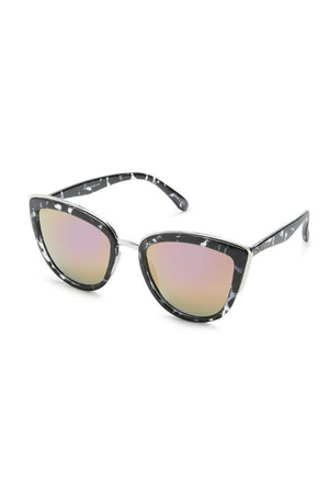 My Girl black tort pink lens sunglasses cat eye quay | pipe and row