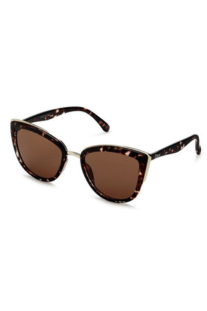 My Girl tort frame brown lens sunglasses cat eye quay | pipe and row