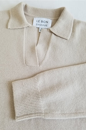 Le bon shoppe Nanette knit pullover irish cream set | pipe and row boutique