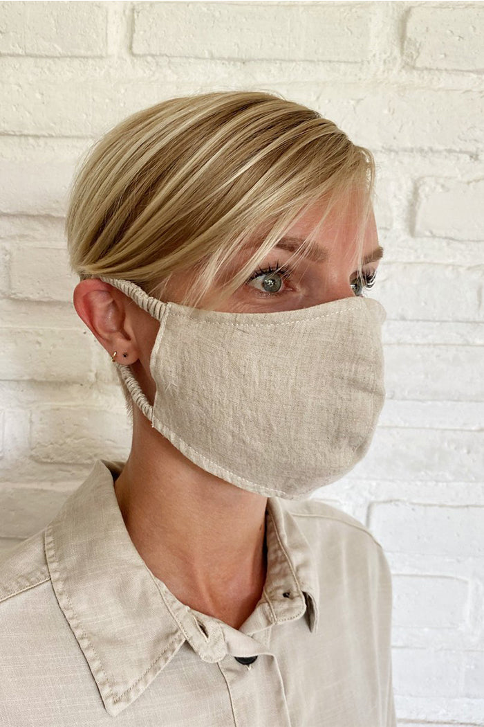 FACE MASK NATURAL LINEN