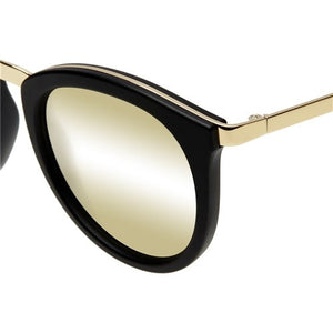 no smirking le specs retro matte black gold | pipe and row seattle
