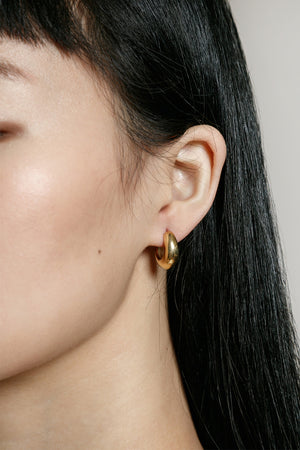 Wolf Circus Nova gold thick hoops | Pipe and Row