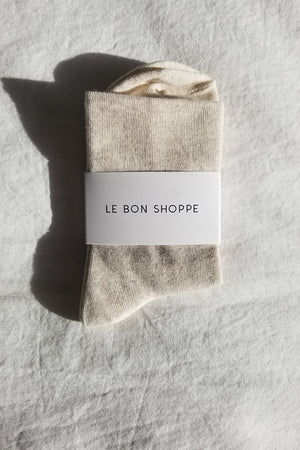 Le Bon Shoppe sneaker sock cotton thin oatmeal | pipe and row boutique pipeandrow.com