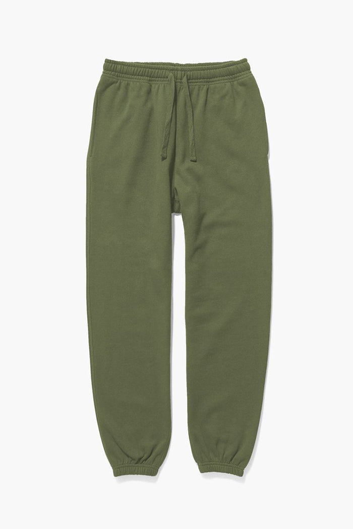 Richer Poorer olive army green recycled fleece jogger style sweatpants Pipe and Row