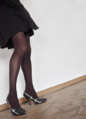 olivia premium tights bordeaux 60 denier swedish stockings | pipe and row