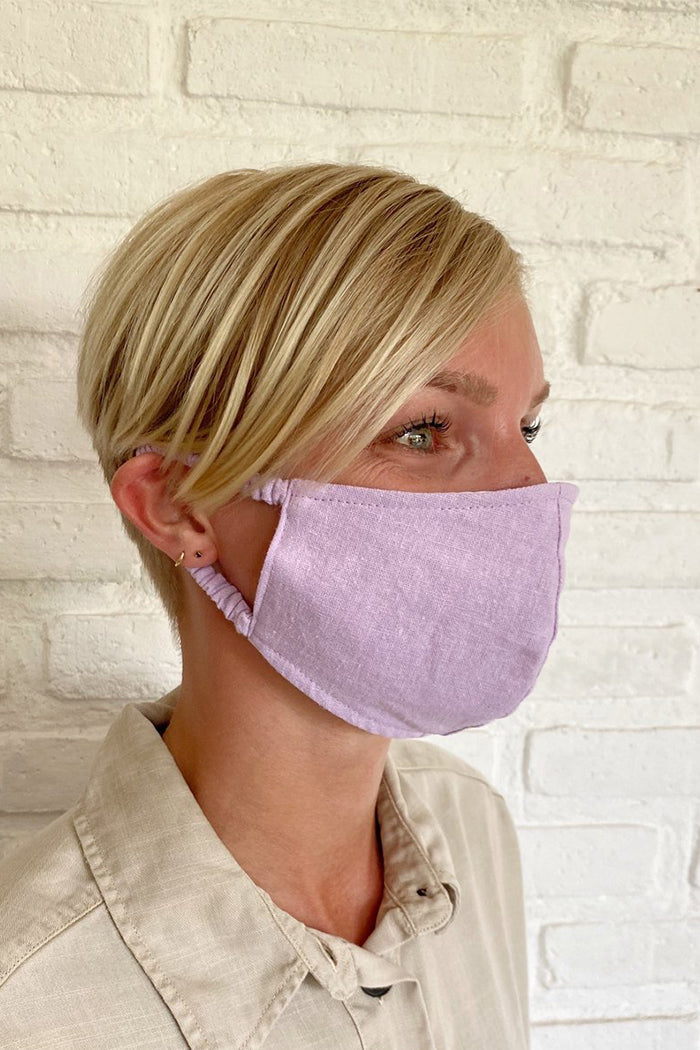 FACE MASK ORCHID LINEN