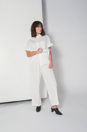 oversized button down white mijeong park | pipe and row