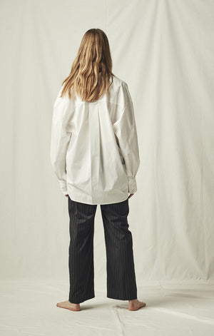 long sleeve button down white mijeong park | pipe and row