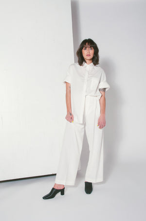 oversized button down white long sleeve mijeong park | pipe and row