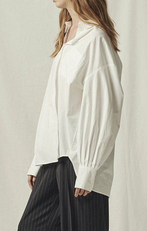 oversized white button down shirt mijeong park | pipe and row