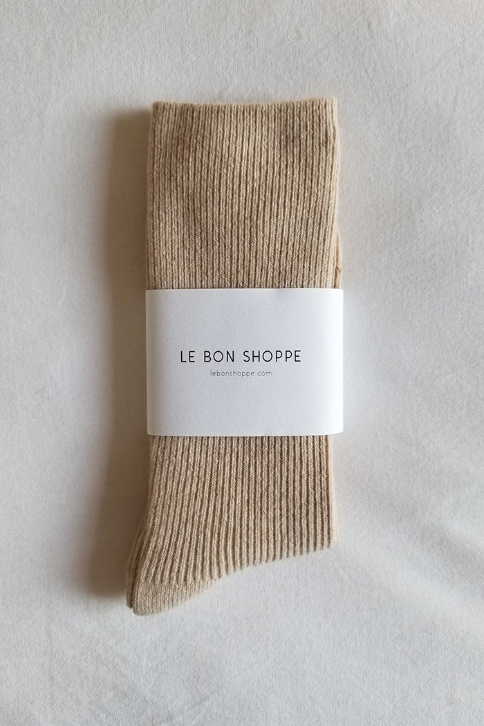Le Bon Shoppe Grandpa socks oyster cashmere wool | PIPE AND ROW