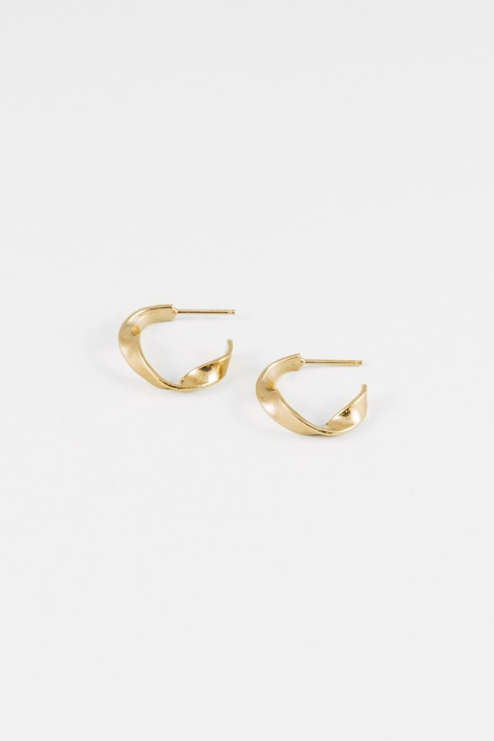 twisted modern hoop earrings palma handmade vancouver wolf circus | pipe and row