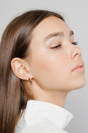 handmade palma hoop earrings gold wolf circus | pipe and row seattle shopping