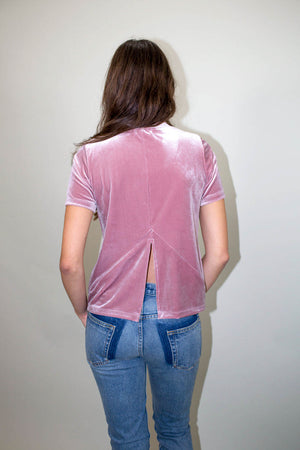 Drifter Peace Top Mauve back slit | Pipe and Row Boutique Seattle