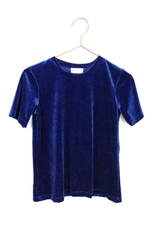 Drifter Velvet Peace Top Royal Blue | Pipe and Row Boutique Seattle
