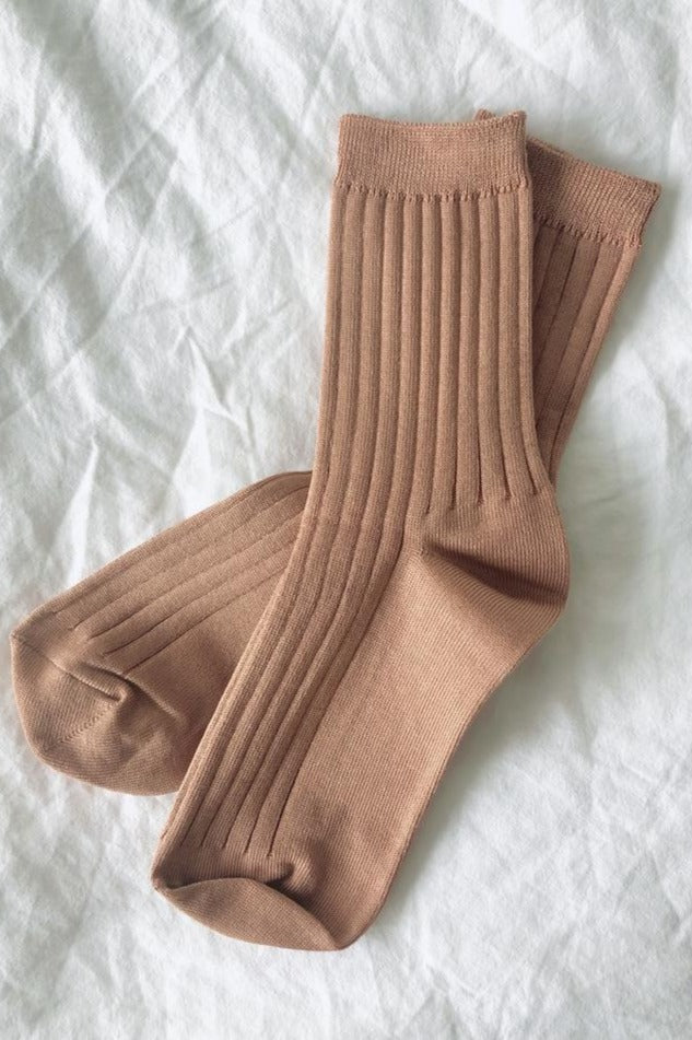 Le Bon Shoppe Her socks perfect height knit rib socks | pipe and row